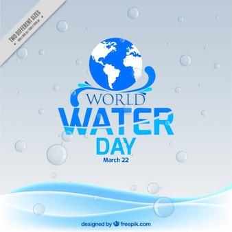 World Water Day Wet Background