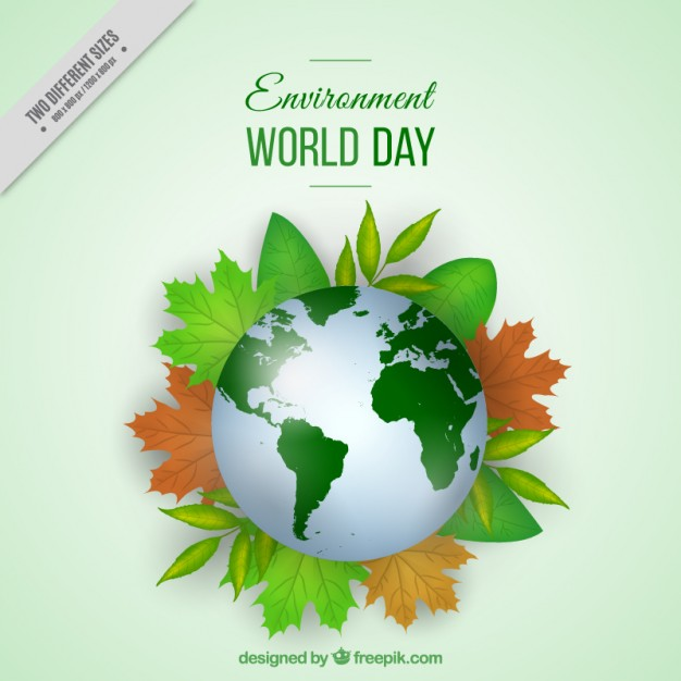 World with leaves environment day background