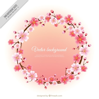 Wreath of cherry blossoms