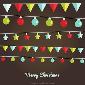 Wreaths and christmas lights