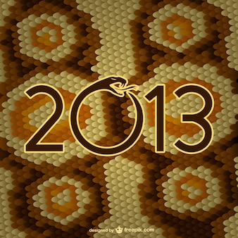 Year of the snake skin vector