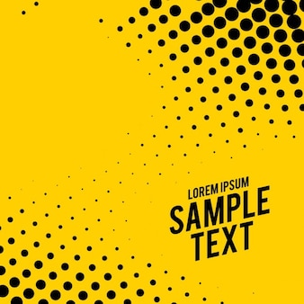 Yellow abstract background with dots
