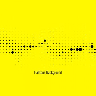 Yellow abstract background with halftone dots