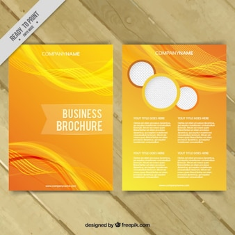 Yellow abstract business brochure template