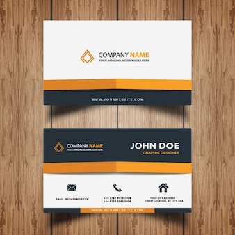 Yellow abstract business card