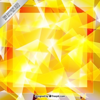 Yellow abstract geometric background