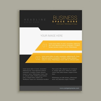 Yellow and black business brochure