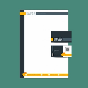 Yellow and black business stationery