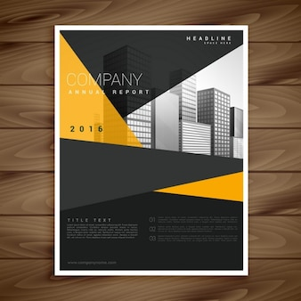 Yellow and black modern brochure
