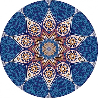 Yellow and blue mandala