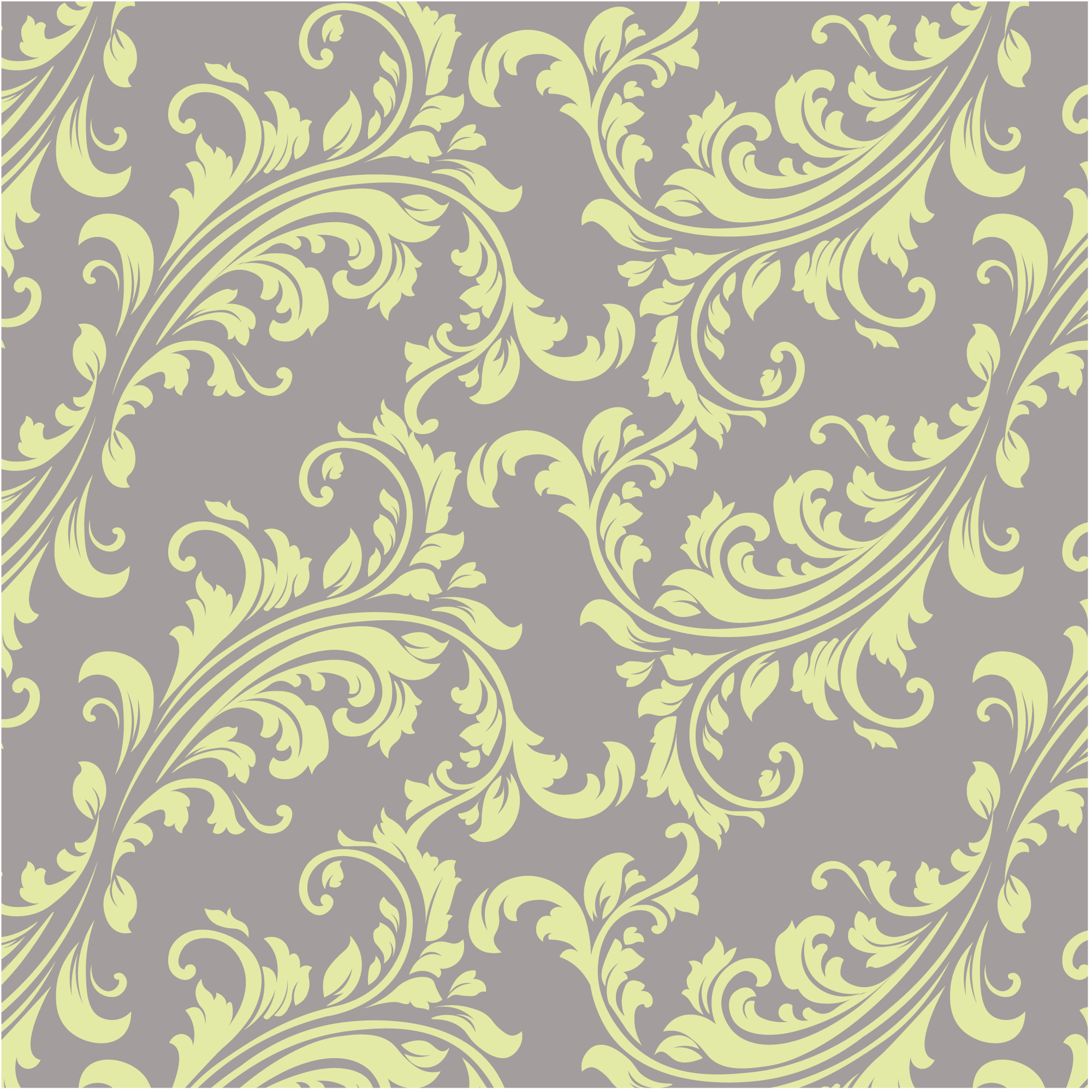 Yellow and brown ornamental pattern background