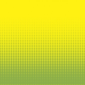 Yellow and green background with halftone dots