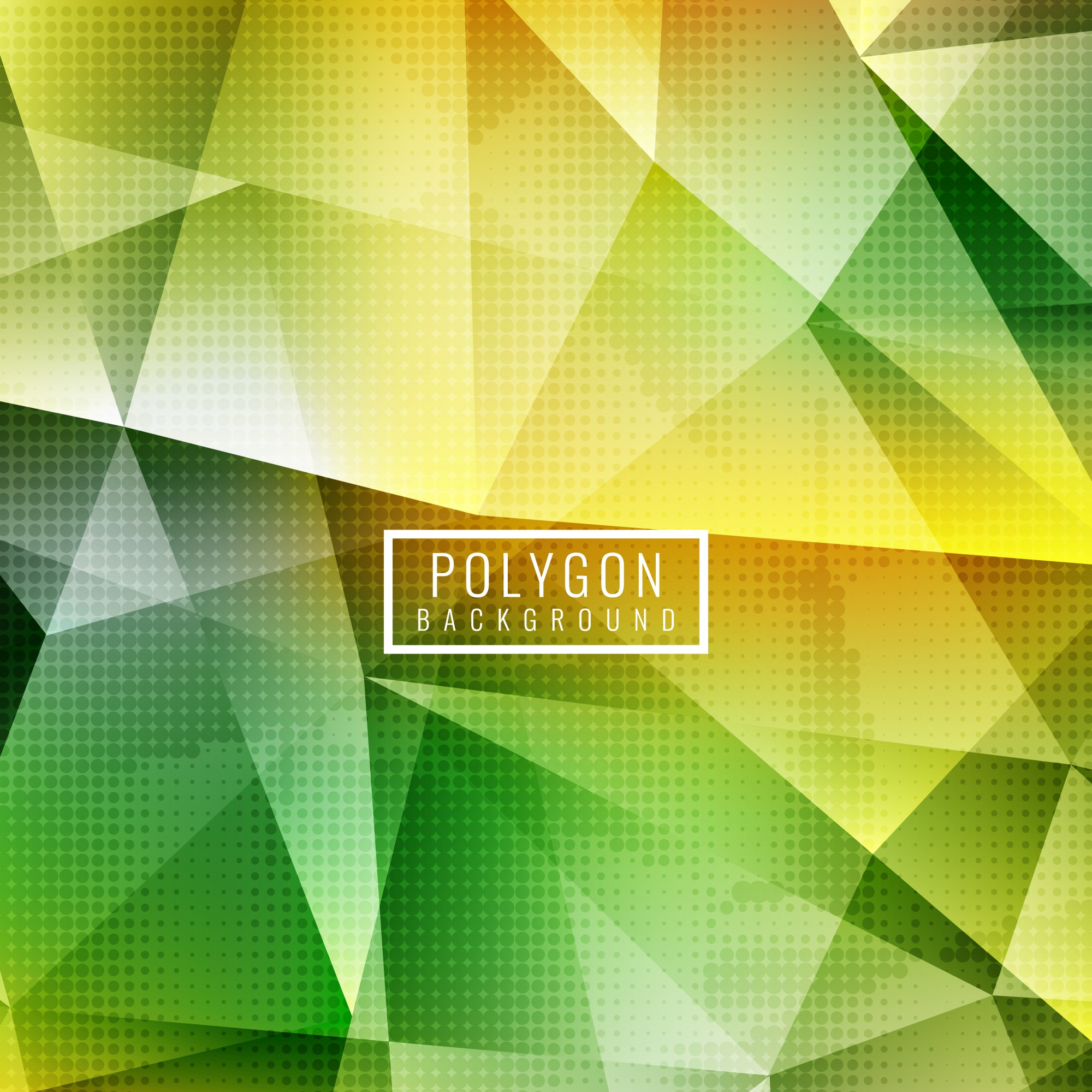 Yellow and green polygonal abstract background