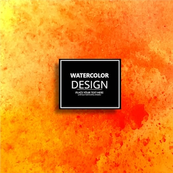 Yellow and orange watercolor design background