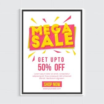 Yellow and pink sale poster