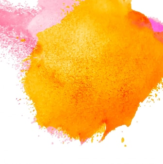 Yellow and pink watercolor background