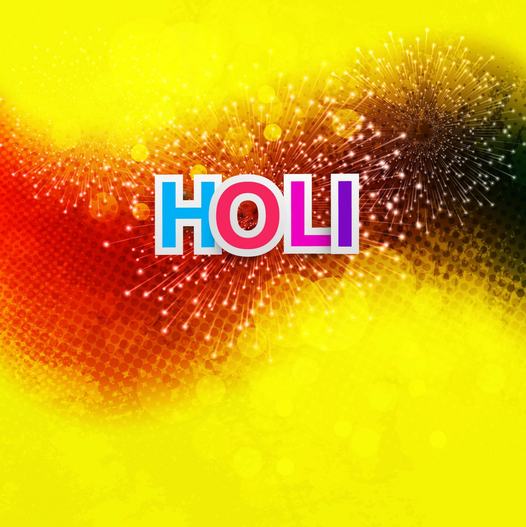 Yellow and red background for holi festival