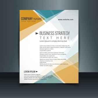 Yellow and turquoise business brochure