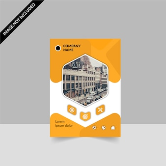 Yellow and white business brochure