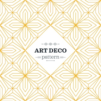 Yellow art deco pattern