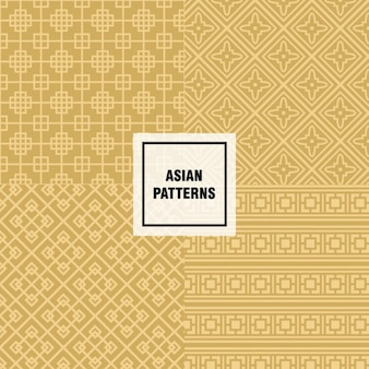 Yellow asian pattern design