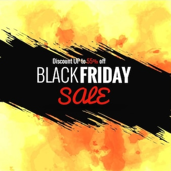 Yellow background about black friday