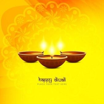 Yellow background, diwali