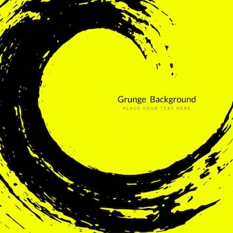 Yellow background with a grunge wave