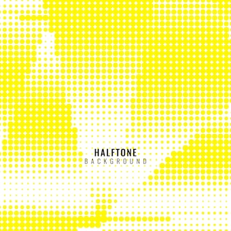 Yellow background with halftone dots