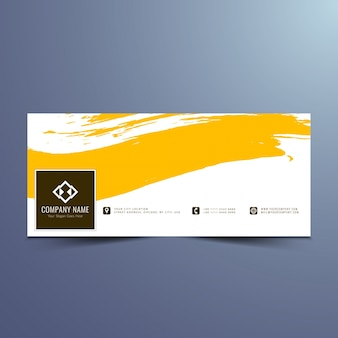 Yellow banner design for facebook timeline