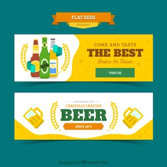 Yellow banners of beer