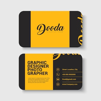 Yellow & Black Business card template