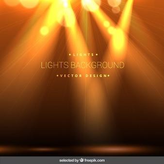 Yellow bokeh lights background