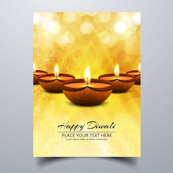 Yellow booklet with lights for diwali