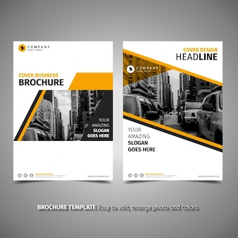 Yellow brochure template