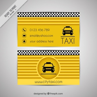 Yellow card of taxi driver
