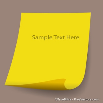Yellow christmas paper banner with message