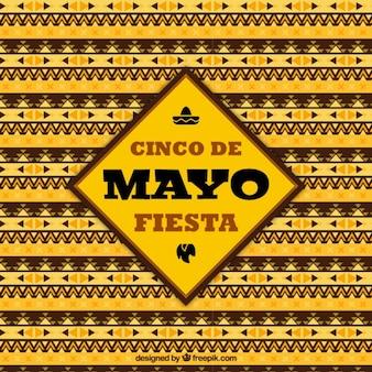 Yellow cinco de mayo background