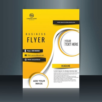 Yellow color business brochure