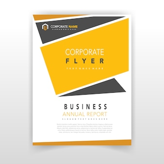Yellow coporate flyer design