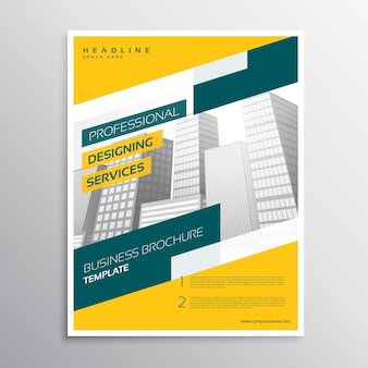 Yellow corporate business flyer design