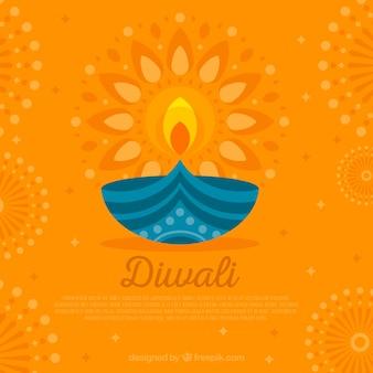 Yellow diwali background