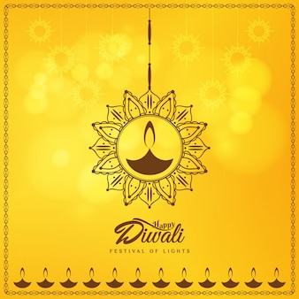 Yellow diwali design