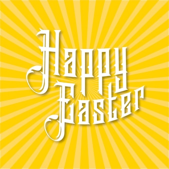 Yellow easter background with sun rays