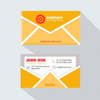 Yellow envelope business card