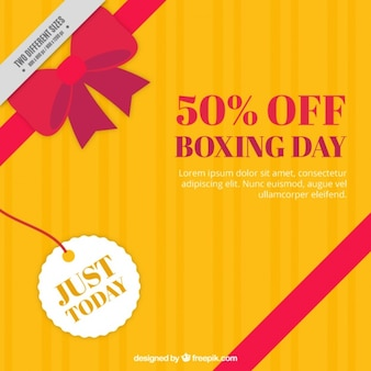 Yellow gift background for boxing day
