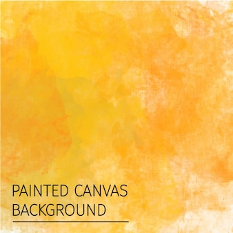Yellow hand painted on a canvas background