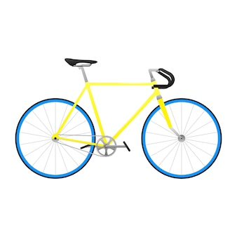 Yellow isolated bike