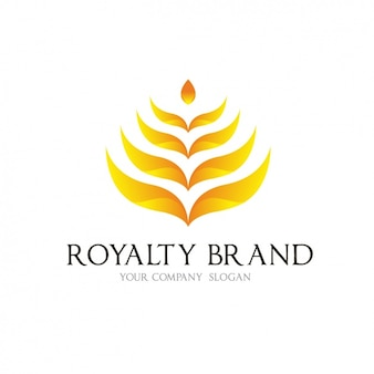 Yellow leaves logo template