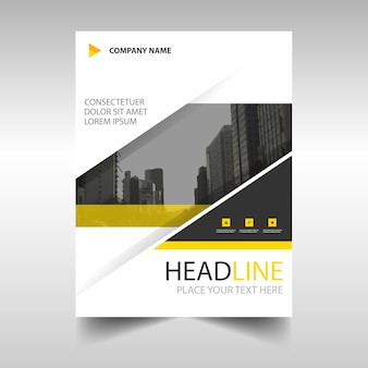 Yellow modern annual report template
